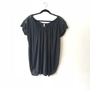 Free people modal tunic with beaded shoulders